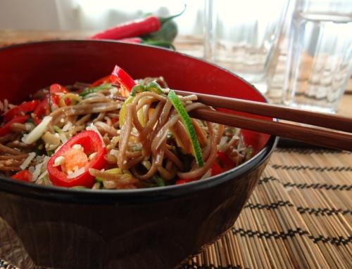 Recette – Nouilles soba aux légumes d'été