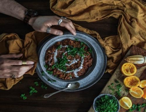 Dahl de patate douce et lentilles